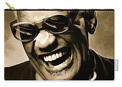 Ray Charles - Portrait Carry-all Pouch by Paul Tagliamonte