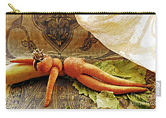 Reclining Nude Carrot Carry-all Pouch by Sarah Loft