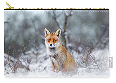 Red Fox Blue World Carry-all Pouch by Roeselien Raimond