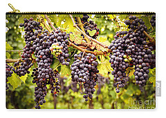 Red Grapes In Vineyard Carry-all Pouch by Elena Elisseeva