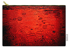 Red Rain Carry-all Pouch by Dave Bowman
