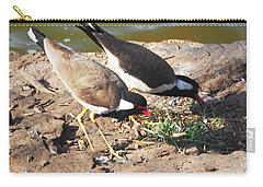 Red-wattled Lapwing Carry-all Pouch by C H Apperson