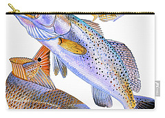 Redfish Trout Carry-all Pouch by Carey Chen