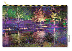 Reflections In Technicolor Carry-all Pouch by Suzanne Stout