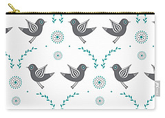 Repeat Lovebird Carry-all Pouch by Susan Claire