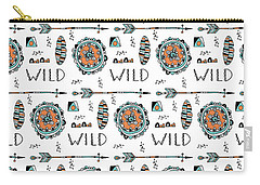 Repeat Print - Wild Carry-all Pouch by Susan Claire