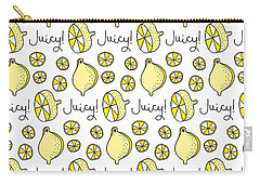 Repeat Prtin - Juicy Lemon Carry-all Pouch by Susan Claire