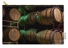 Resting Wine Barrels Carry-all Pouch by Iris Richardson