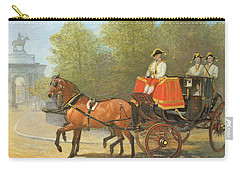 Returning From Her Majestys Drawing Room Carry-all Pouch by Alfred Corbould