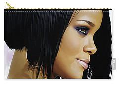 Rihanna Artwork Carry-all Pouch by Sheraz A