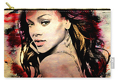 Rihanna Carry-all Pouch by Mark Ashkenazi