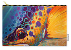 River Orchid - Brown Trout Carry-all Pouch by Savlen Art