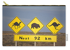 Road Sign Nullarbor Plain Australia Carry-all Pouch by Mark Newman
