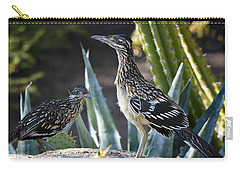 Roadrunners At Play  Carry-all Pouch by Saija  Lehtonen