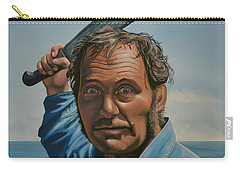 Robert Shaw In Jaws Carry-all Pouch by Paul Meijering