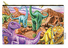 Rocky Mountain Dinos Carry-all Pouch by Mark Gregory