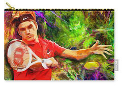 Roger Federer Carry-all Pouch by RochVanh