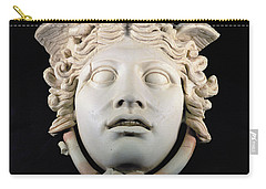 Rondanini Medusa, Copy Of A 5th Century Bc Greek Marble Original, Roman Plaster Carry-all Pouch by .