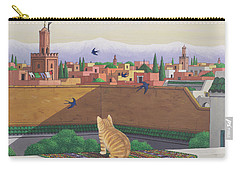 Rooftops In Marrakesh Carry-all Pouch by Larry Smart