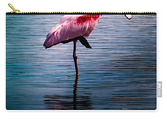 Roseate Spoonbill Carry-all Pouch by Karen Wiles