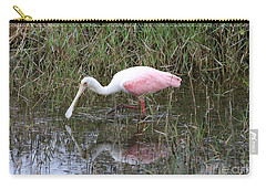 Roseate Spoonbill Reflection Carry-all Pouch by Carol Groenen