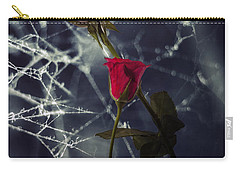 Roses With Coweb Carry-all Pouch by Joana Kruse