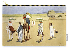 Round The Pyramids, From The Light Side Carry-all Pouch by Lance Thackeray