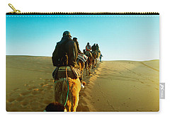 Row Of People Riding Camels Carry-all Pouch by Panoramic Images