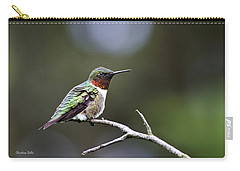 Ruby Throated Hummingbird Spotlight Carry-all Pouch by Christina Rollo
