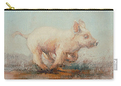 Running Piglet Carry-all Pouch by Ellie O Shea