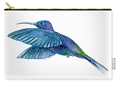 Sabrewing Hummingbird Carry-all Pouch by Amy Kirkpatrick
