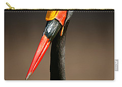 Saddle-billed Stork Portrait Carry-all Pouch by Johan Swanepoel