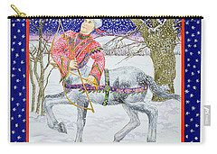 Sagittarius Wc On Paper Carry-all Pouch by Catherine Bradbury