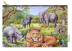 Saharan Animal Gathering Carry-all Pouch by Mark Gregory