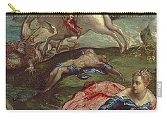 Saint George And The Dragon  Carry-all Pouch by Jacopo Robusti Tintoretto