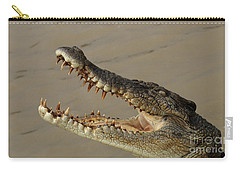Salt Water Crocodile 1 Carry-all Pouch by Bob Christopher
