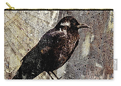 Same Crow Different Day Carry-all Pouch by Carol Leigh