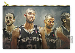 San Antonio Spurs Artwork Carry-all Pouch by Sheraz A