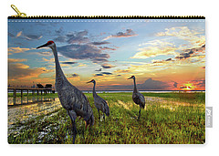 Sandhill Sunset Carry-all Pouch by Debra and Dave Vanderlaan