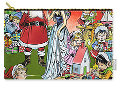 Santa Claus Toy Factory Carry-all Pouch by Jesus Blasco