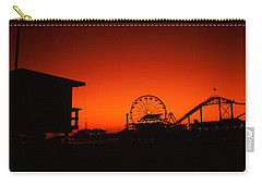Santa Monica Pier, Santa Monica Beach Carry-all Pouch by Panoramic Images