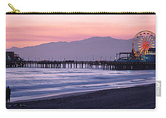 Santa Monica Pier Santa Monica Ca Carry-all Pouch by Panoramic Images