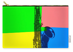 Saxophone Pop Art Carry-all Pouch by Dan Sproul