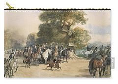 Scene In Hyde Park Carry-all Pouch by Eugene-Louis Lami