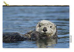 Sea Otter Alaska Carry-all Pouch by Michael Quinton
