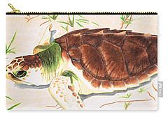 Sea Turtle Art By Sharon Cummings Carry-all Pouch by Sharon Cummings
