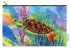 Sea Turtle Carry-all Pouch by Hailey E Herrera