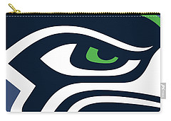 Seattle Seahawks Carry-all Pouch by Tony Rubino