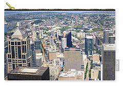 Seattle Skyscrapers At Waterfront, King Carry-all Pouch by Panoramic Images