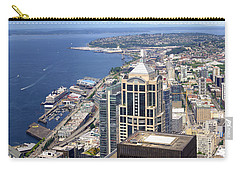 Seattle Skyscrapers At Waterfront Carry-all Pouch by Panoramic Images